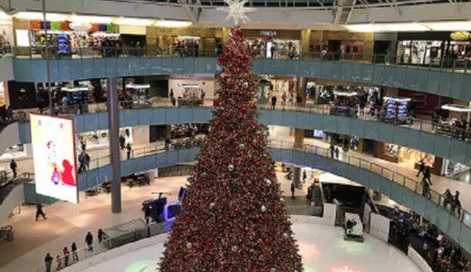 巨大ショッピングモール「GALLERIA DALLAS」のクリスマス
